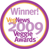 The Ginger Cat B&B wins Favorite Veg B&B in VegNews 2009 Veggie Awards